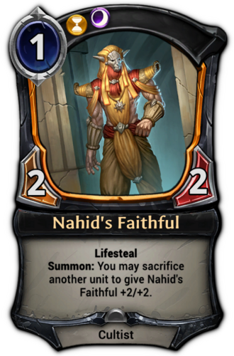 Nahid's Faithful card