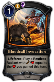 Bloodcall Invocation