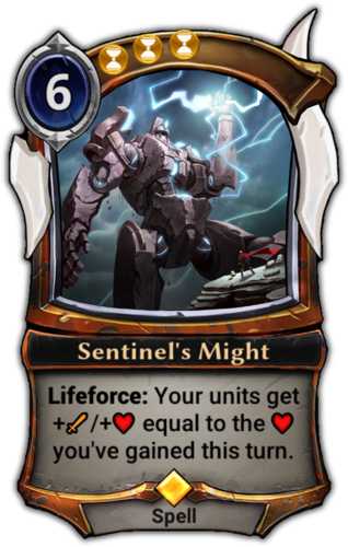 Sentinel's Might card