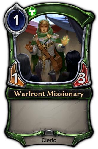 Warfront Missionary card