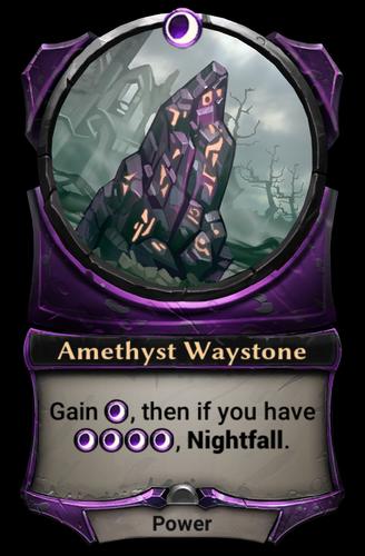 Amethyst Waystone card