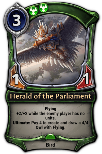 Herald of the Parliament card