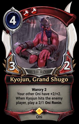 Kyojun, Grand Shugo card