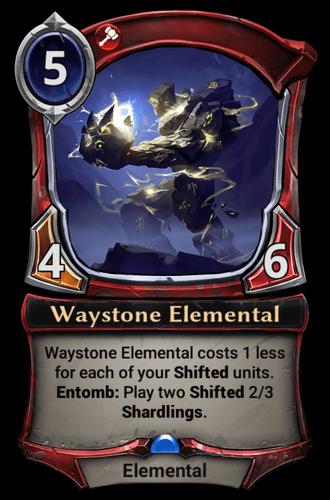 Waystone Elemental card