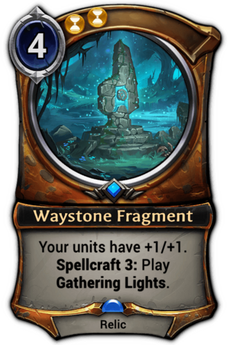 Waystone Fragment card
