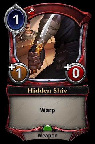 Hidden Shiv card