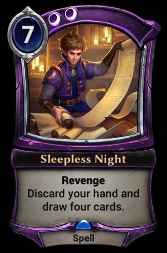 Sleepless Night card