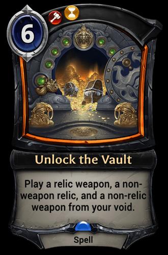Unlock the Vault card