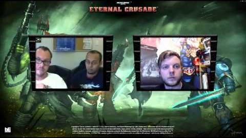 The Eternal Crusade Miguel Caron Interview with Exclusive PVE footage!