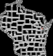 Location of Oakton, WI