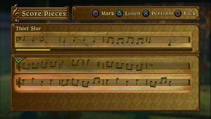 Score Piece Session with Thief Slur