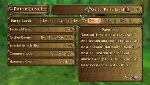 Party Level Increase Description