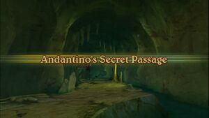 Andantino's Secret Passage Intro Screen
