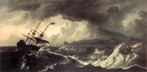 Ludolf Bakhuizen - Ships Running Aground in a Storm - WGA01131
