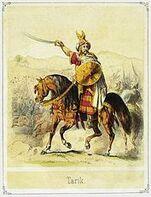 Tariq ibn Ziyad on horse