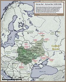 350px-001 Kievan Rus' Kyivan Rus' Ukraine map 1220 1240