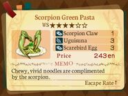 Stratum 4. Scorpion Green Pasta