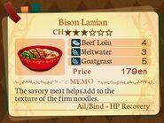 Stratum 3. Bison Lamian