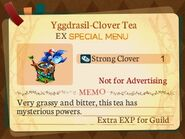 Special Menu. Yggdrasil-Clover Tea