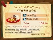 Stratum 3. Snow Crab Foo Young