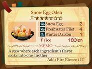 Stratum 3. Snow Egg Oden