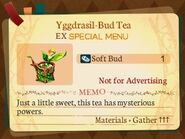 Special Menu. Yggdrasil-Bud Tea