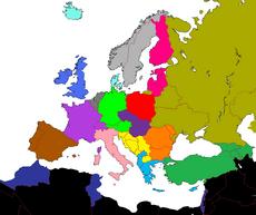 EuroSongs strefy mapa