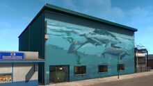 Newport Wyland Whales Mural