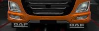 Daf xf euro 6 front mudflaps daf black