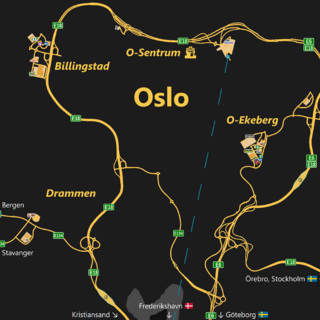 Oslo as viewed on the game map
