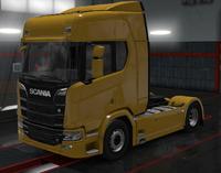 Scania R savanna yellow