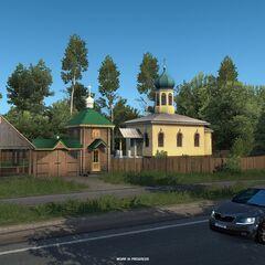 Jersika Orthodox Church between <a href=