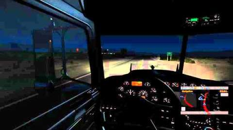 American Truck Simulator UFO sighting