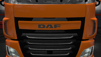 Daf xf euro 6 front badge plate paint
