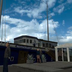 Sailing vessel restaurant