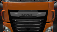 Daf xf euro 6 front badge plate stock facelift