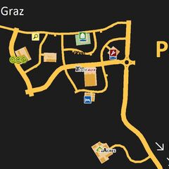 Pécs as viewed on the game map