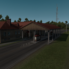 An abandoned border crossing between Estonia and <a href=