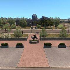 Roswell Pioneer Plaza and Chaves County Courthouse