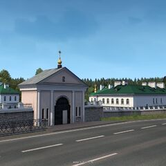 Yelizarov Convent north of <a href=