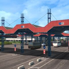 Borş border crossing, Romania