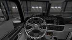 Steering Wheel Skulls White