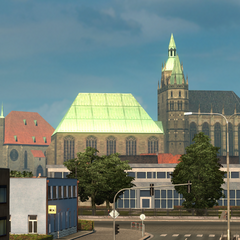 St. Severi church (left) and Erfurt Cathedral (right)