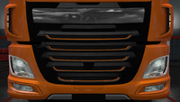 Daf xf euro 6 front grille outline