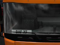 Daf xf euro 6 codrivers plate