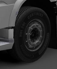 Daf xf euro 6 front wheels dark silver