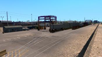 Large railway depot