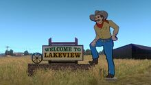Lakeview Welcome To Lakeview signs
