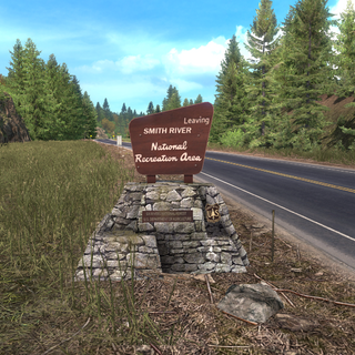 Smith River National Recreation Area exit sign