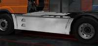 Daf xf euro 6 sideskirt basic chromed 4x2